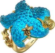 Tagliamonte ,  Marina Collection - Blue Starfish 18k Gold Ring