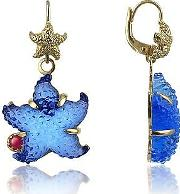Tagliamonte ,  Marina Collection - Blue Starfish Rubie & 18k Gold Earrings