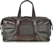 The Bridge ,  Pininfarina Fabric And Leather Duffle Bag