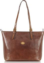 The Bridge ,  Story Donna Large Brown Leather Tote