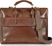 The Bridge ,  Story Uomo Brown Leather Briefcase