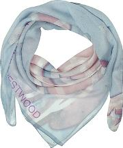 Vivienne Westwood ,  Light Blue & Pink Foul Flash Orbs Print Silk Wrap