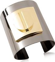 Pluma ,  Two Tone Large Viti Brass Cuff In Fumoso