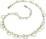 Orlando Orlandini ,  Star - 18k Yellow Gold Circles Necklace