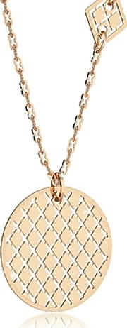 Rebecca ,  Melrose Yellow Gold Over Bronze Necklace Wgeometric Charms