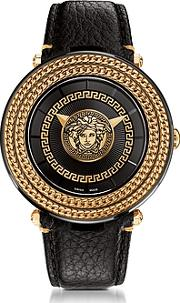 Versace ,  V-metal Icon Black And Rose Gold Unisex Watch Wmedusa Medal