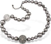 Az Collection ,  Mirror Polished Ball Necklace