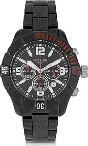 Forzieri ,  Kimi Black And Red Stainless Steel Men's Watch