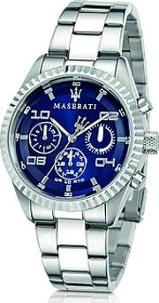 Maserati ,  Competizione Chronograph Multi Blue Dial Stainless Steel Men's Watch