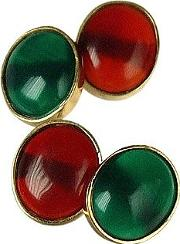 Forzieri Exclusives ,  Agate And Carnelian 18k Gold Cufflinks