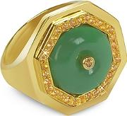 Sho London ,  Aventurine Clementina Ring