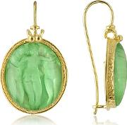 Tagliamonte ,  Three Graces - 18k Gold Mother Of Pearl Cameo Earrings
