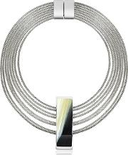 Pluma ,  Fumoso Black Four Strand Necklace