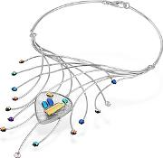 Forzieri ,  Fireworks Glass Stones Sterling Silver Necklace