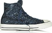 Converse Limited Edition ,  All Star High Navy Glitter Women's Sneaker