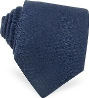 Forzieri ,  Solid Blue Cashmere Extra-long Tie