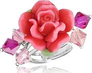 Dolci Gioie ,  Sterling Silver Red Rose Ring