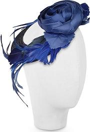 Nana , ' - Alba - Night Blue Flower Feather Hat Disc