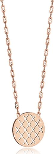 Rebecca ,  Melrose Rose Gold Over Bronze Necklace Wround Charm
