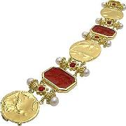 Tagliamonte ,  Classics Collection - 18k Gold And Ruby Link Bracelet