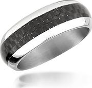 Zoppini ,  Zo Dark - Carbon Fiber & Stainless Steel Band Ring