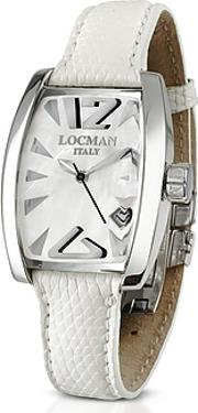 Locman ,  Panorama White Mother-of-pearl Dial Dress Watch