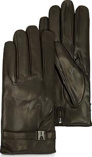 Moreschi ,  Alaska Dark Brown Leather Men's Gloves Wcashmere Lining