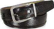 Moreschi ,  Lione Brown Peccary And Leather Belt