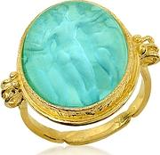 Tagliamonte ,  Three Graces - 18k Gold Turquoise Mother Of Pearl Cameo Ring