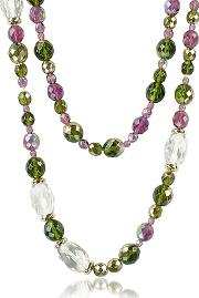 Az Collection ,  Double Beaded Long Chain Necklace