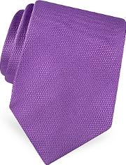 Forzieri ,  Gold Line Solid Woven Silk Tie