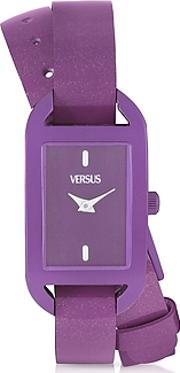 Versace Versus ,  Ibiza Aluminum And Leather Wrap Women's Watch