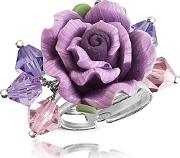 Dolci Gioie ,  Sterling Silver Purple Rose Ring