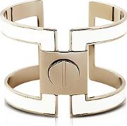 Pluma ,  Brass Single Viti Cuff In Fumoso