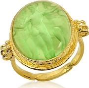 Tagliamonte ,  Three Graces - 18k Gold Green Mother Of Pearl Cameo Ring