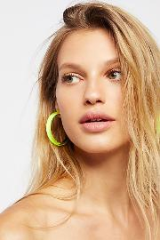 Alexis Bittar , Lucite Neon Hoops By  At Free People