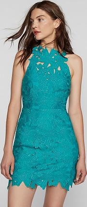 Saylor , Jessa Foil Lace Dress By  At Free People