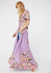 Spell , Blue Skies Exclusive Wrap Maxi Dress By  At Free People