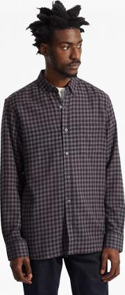 French Connection , Checked Flannel Shirt Grey 5717