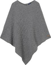Gant , Cable Poncho Dark Grey Melange