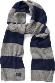 Gant , Bar Striped Scarf Dark Grey Melange