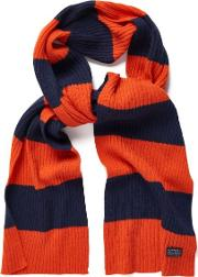 Gant , Bar Striped Scarf Pumpkin Orange