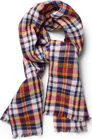 Gant , Checked Scarf Persian Blue