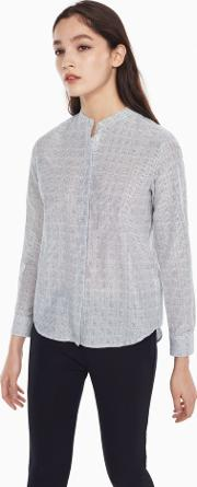 Gant , Cotton Silk Dot Blouse White