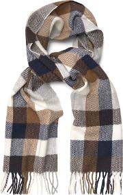 Gant , Multicheck Lambswool Scarf Marine