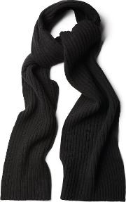 Gant , Ribbed Scarf Black