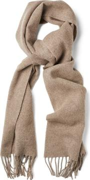 Gant , Solid Lambswool Scarf Desert Brown