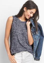 Gap , Softspun Knit Muscle Tank Navy Marl