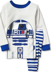 Gap , 124 Star Warsa R2 D2 Sleep Set New Off White