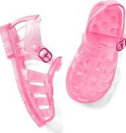 Gap , Basketweave Jelly Sandals Neon Light Pink
